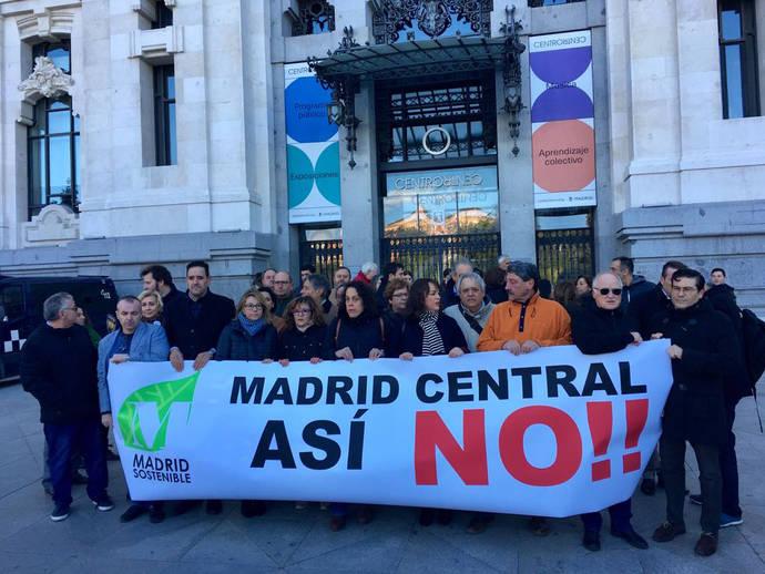 Los concentrados contra Madrid Central.