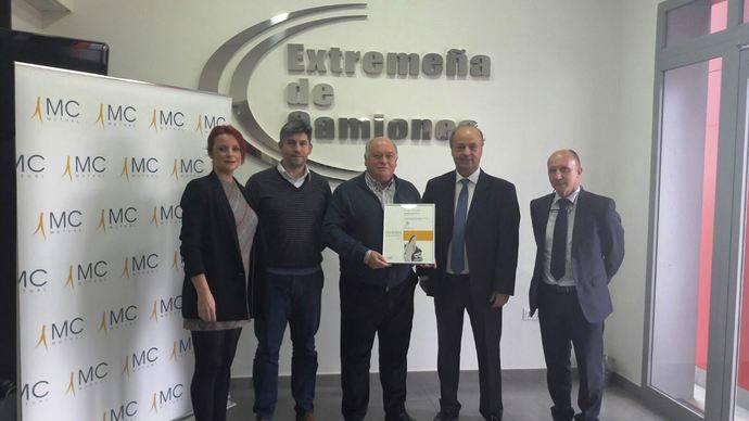 Extremeña de Camiones premiado por su labor en prevención de riesgos laborales