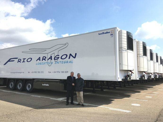 La compañía Frío Aragón ha adquirido 18 semirremolques frigoríficos Lecitrailer