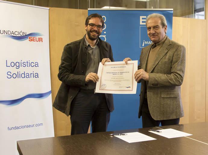 EMT Madrid recicla 4,3 millones de tapones para un proyecto de Seur