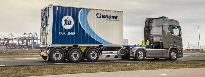 Krone presenta el Box Liner para el transporte de contenedores