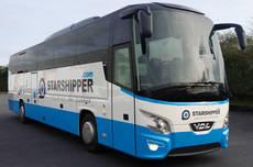 Uno de los autobuses entregados para la larga distancia francesa