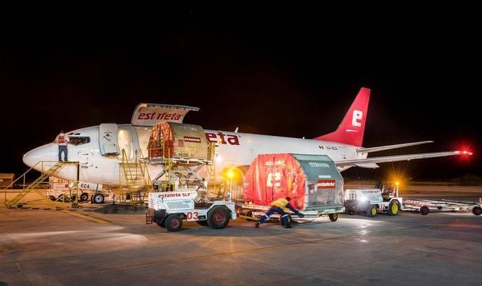 Un avión de transporte de mercancías de Estafeta.