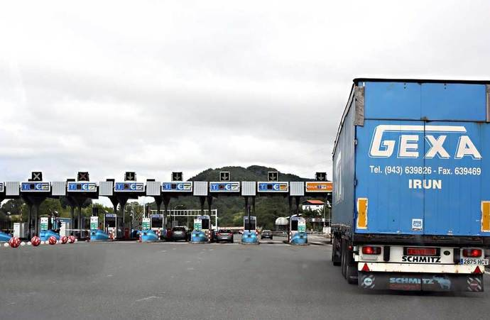El transporte de mercancía por carretera parará en Guipúzcoa