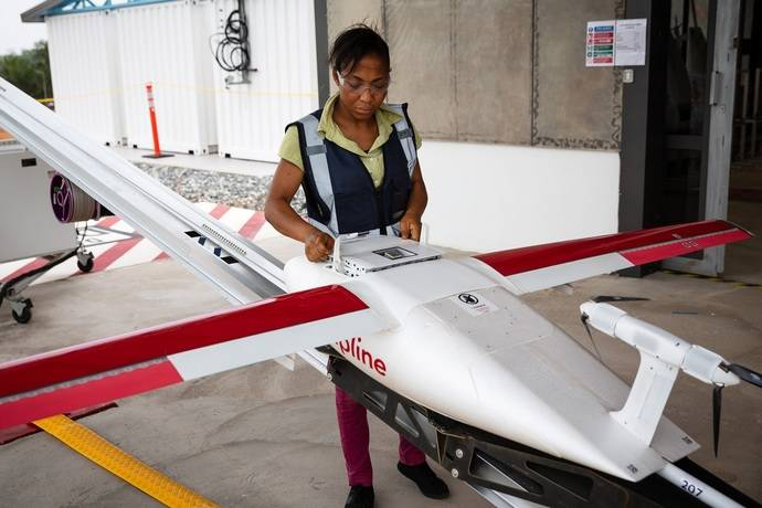 UPS ayuda a Ghana con red distribución vacunas mediante el uso de drones