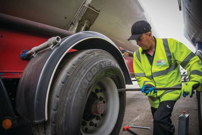 ServiceLine24h de Goodyear reduce el tiempo de parada de los camiones