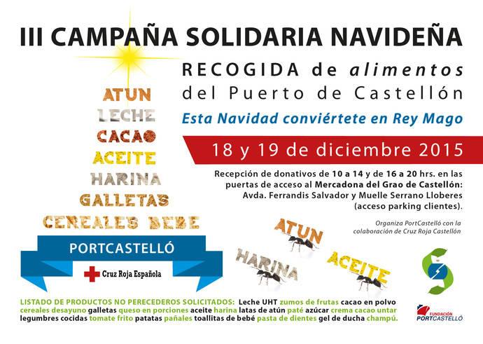Tercera campaña solidaria navideña de recogida de alimentos en el puerto de Castellón