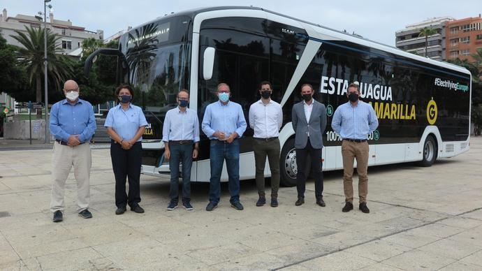 Guaguas Municipales prueba un bus 100% eléctrico