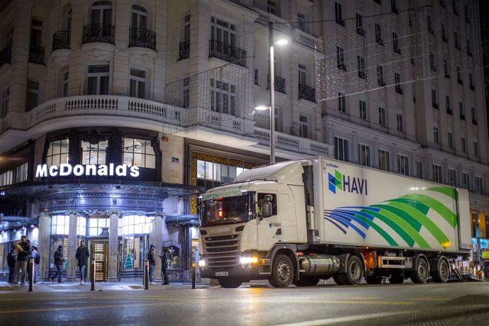Havi y Scania minimizan la huella ambiental de McDonald's España
