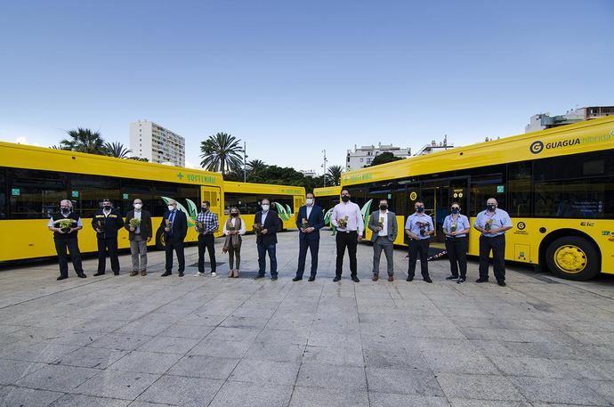 Guaguas Municipales renueva su flota con diez nuevos vehículos híbridos