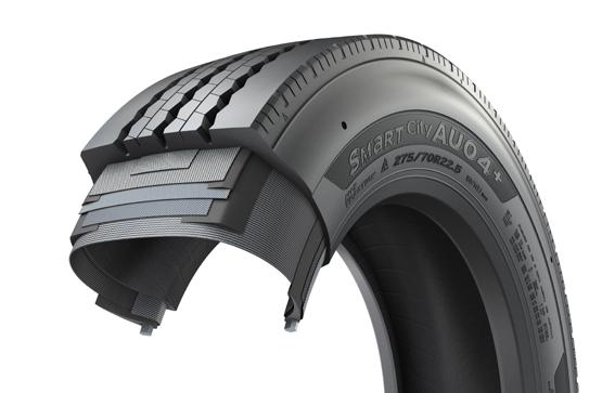 Hankook lanza un neumático con mayor vida útil para los autobuses