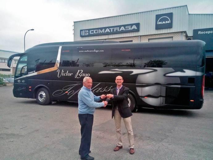 Autocares Víctor Bayo incorpora un autocar de lujo TopClass a su flota