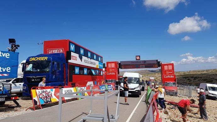 Dachser transporta más de 350 toneladas para La Vuelta