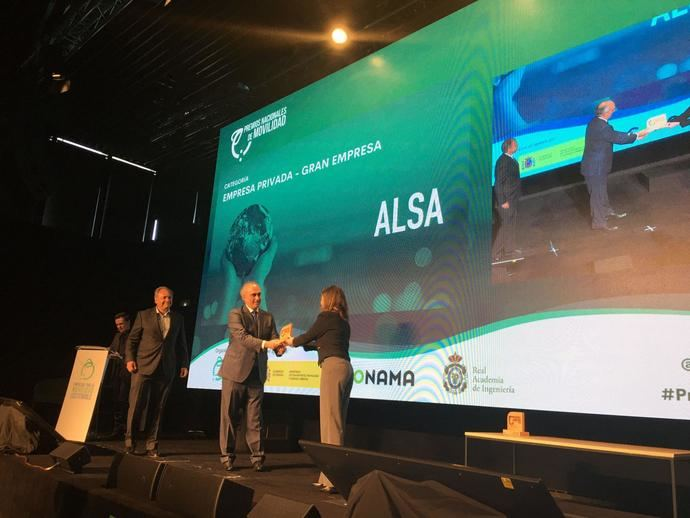 Premio Nacional de Movilidad para Alsa, por su compromiso con los ODS