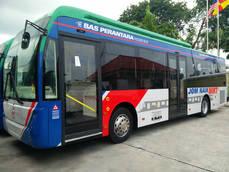 Uno de los vehículos que prestarán servicio en Kuala Lumpur con puertas Masats