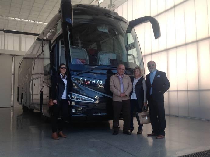 El nuevo autocar adquirido por Ainhoa Bus.