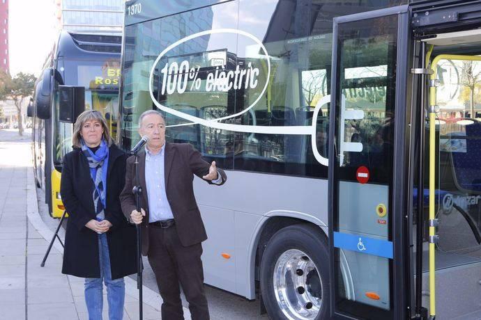 AMB incorpora el primer autobús 100% eléctrico en las líneas del servicio 'nitbus'