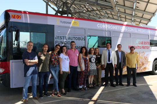 Tussam colabora con el novedoso proyecto Europeo Life BioSeville