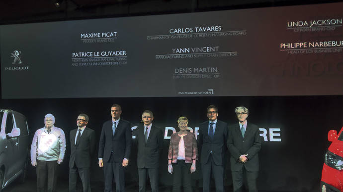 PSA Peugeot Citroën exhibe sus nuevos vehículos para la gama de comerciales ligeros