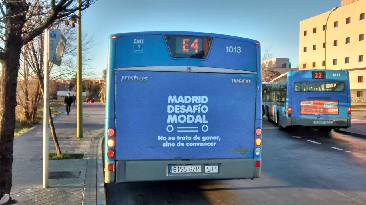 La línea exprés E4 de la EMT de Madrid se impone en el 'Desafío Modal'