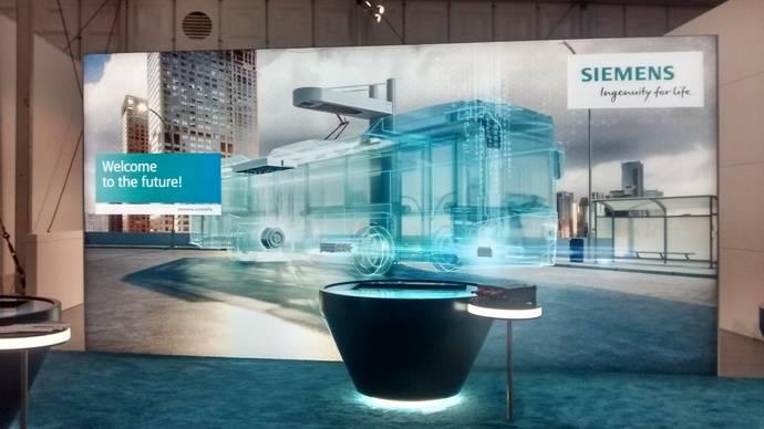 Siemens apuesta fuerte por la electromovilidad, en Busworld