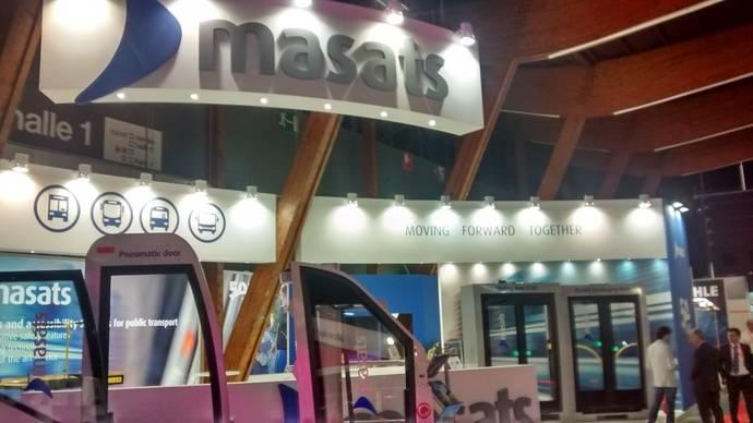 Masats celebra sus 50 años de existencia y fabricación en la feria de Busworld