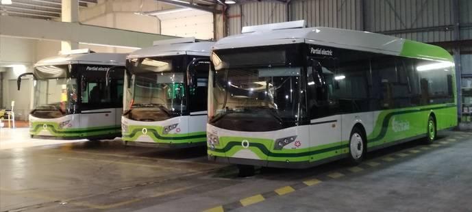 EMB incorpora tres autobuses, de la marca Vectia, a su flota de Bizkaibus