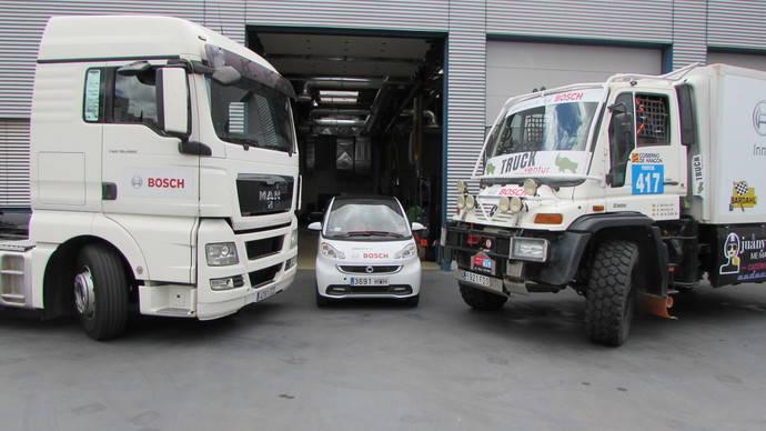 Bosch patrocina el equipo de rally Truckventur, en la Baja España