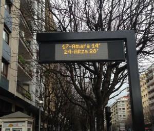 Dbus instala más paneles electrónicos de información de tiempos