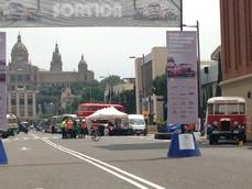 Imagen del Rally de Autobuses Clásicos celebrado en Barcelona