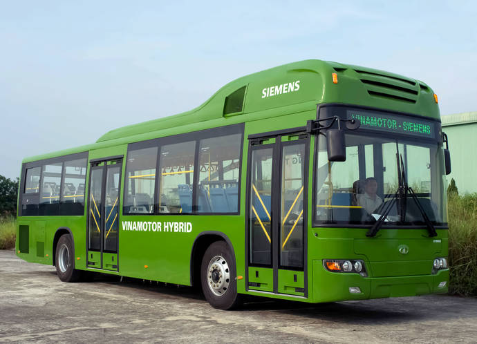 Un autobús con sistemas Siemens.