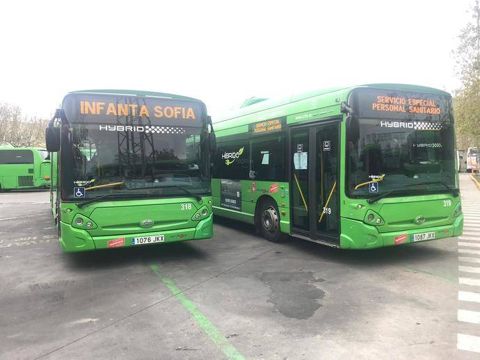 Interbus traslada al personal sanitario a sus hospitales