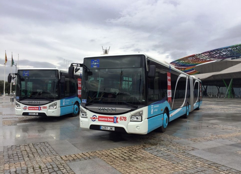 Iveco Bus Entrega Al Ayuntamiento De Malaga 15 Autobuses Urbanway on Del 1 Al 9 Suman 100