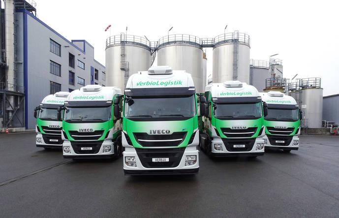 Iveco alcanza la cifra de 1.000 unidades Stralis NP 400 entregadas, con cinco a la empresa Verbio