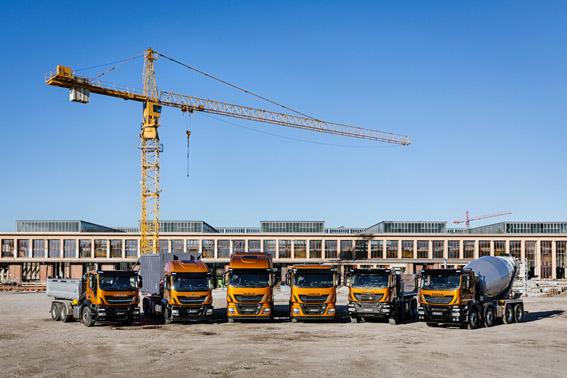 Iveco muestra su gama sostenible para la construcción