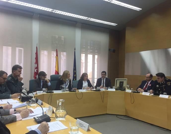 Imagen de la presentación del Plan de Inspección en materia de Transportes para la Comunidad de Madrid de 2018.