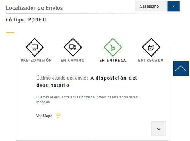 Correos decide presentar un localizador con más información