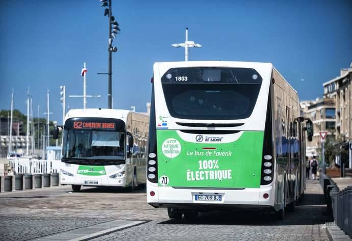 Seis autobuses Irizar i2e inauguran la primera línea eléctrica de Francia