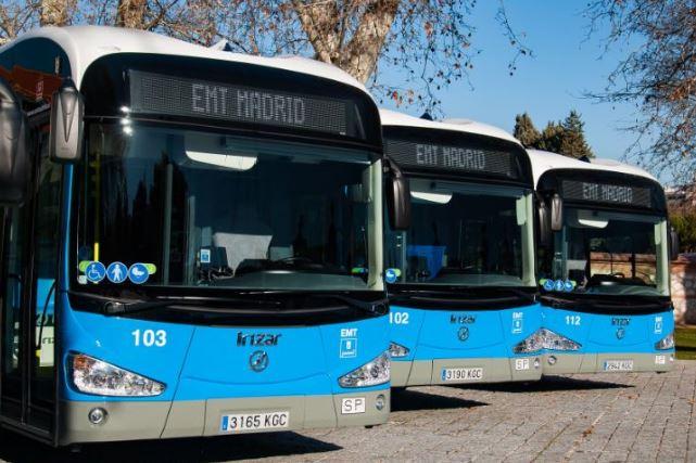 EMT de Madrid invierte 35 millones de euros en 50 autobuses eléctricos