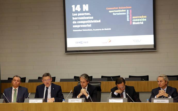 Puig propone una alianza con Madrid para conectar los puertos valencianos