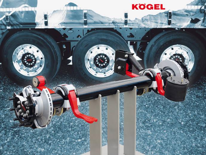 Eje de remolque Kögel KTA, estándar en muchos de sus semirremolques