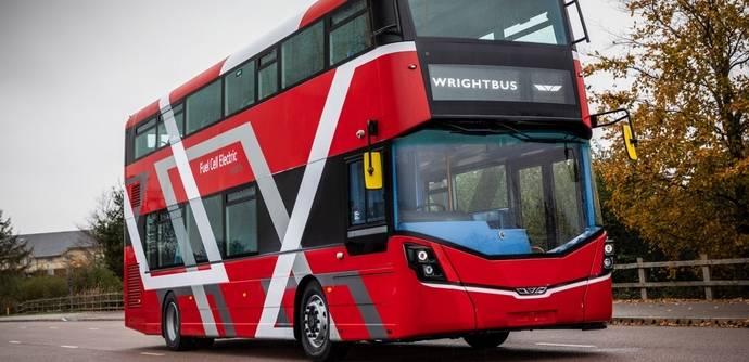 Wrightbus da a conocer el primer bus de dos pisos con pila de combustible