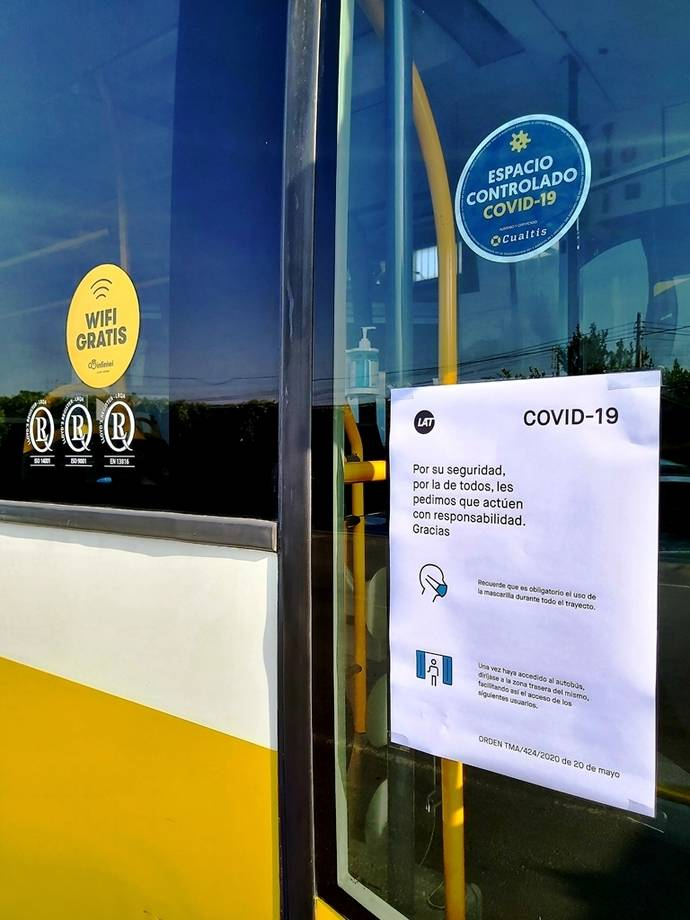 Autobuses LAT se certifica como Espacio Protegido Covid-19