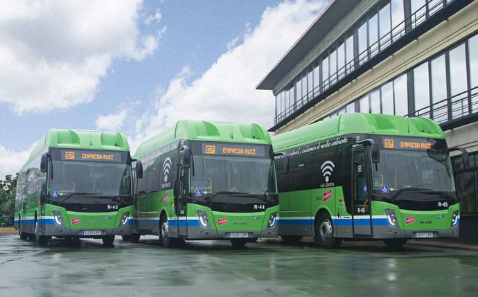 Empresa Ruiz presenta tres nuevos autocares propulsados por GNC, para la Concesión VCM-303, Madrid – Barajas de Melo – Villamayor de Santiago