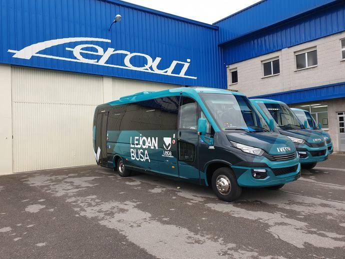 Tres autobuses semiurbanos Ferqui para la urbe de Leioa