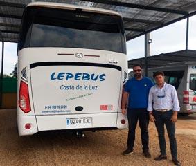 King Long entrega el modelo C10 a Lepebus