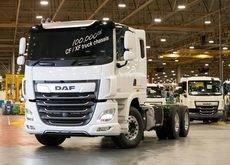 El camión número 100.000 de DAF CF/XF fabricado por Leyland Trucks.
