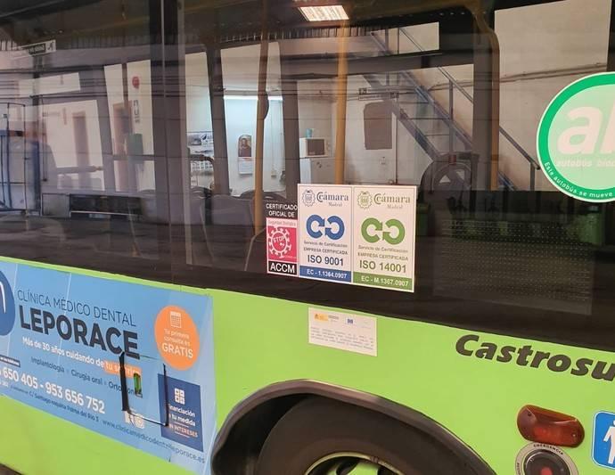 Los autobuses urbanos de Linares obtienen la certificación Stop Covid-19