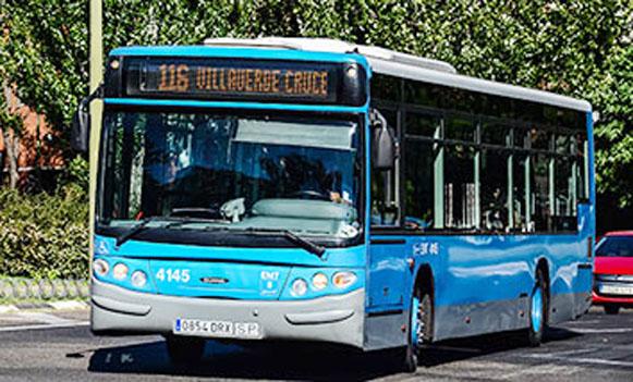 La EMT modifica el itinerario de las líneas 18 y 116