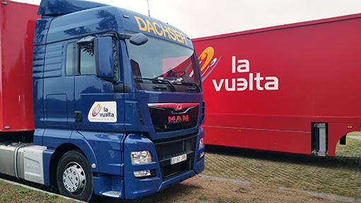 Azkar Dachser Group reduce las emisiones en La Vuelta a España